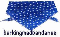 Blue Stars, Dog Bandana, Dog Neck Tie, Neck Ties