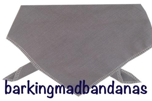 Extra Large Plain Dog Bandanas, Grey Dog Bandanas, Cotton Neckerchief, Advertising, Promotion UK