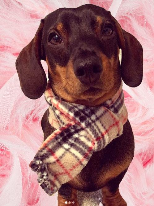 Dog Scarf, Fleece Dog Scarf, Dog Birthday Bandana, Christmas Bandana, Dog Clothing, Dog Clothes, UK, Handmade, Northampton,