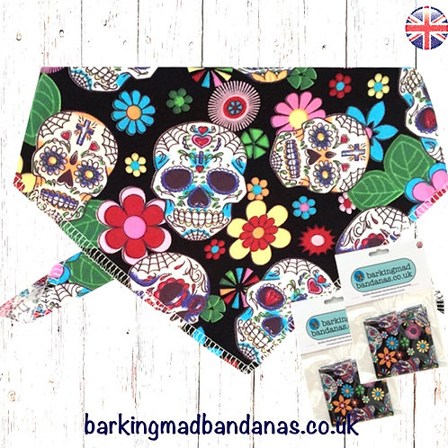 Black Dog Bandana, Dog Neckerchief UK, Dog Bandanas UK, Dog Bandana UK, Dog Birthday Bandana, Dog Neckerchief, Tie on Bandana