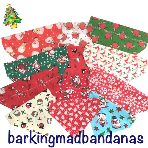 Christmas Dog Slider Bandanas