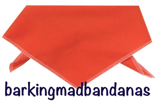 Orange Dog Bandanas, Orange Dog Bandana, Warning Bandanas, Dog Neck Scarf, Plain UK
