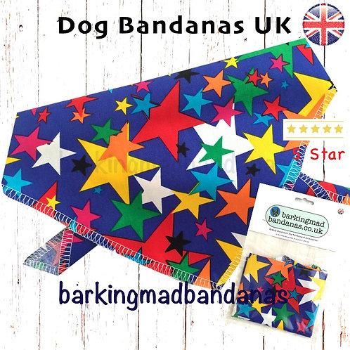 XL Dog Bandana, XL Tie on Dog Bandana, Great Dane Dog Bandana UK, XL Dog Neckerchief UK, XL Blue Dog Bandana, Large Dogs, UK