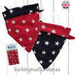 Double sided dog Bandanas, Value, Dog Bandanas, Desiger, Free UK, Handmade UK, Dog Clothing