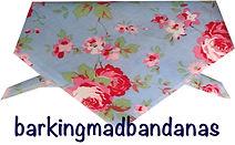 Cath Kidson Style Dog Bandana Blue, Floral Bandana, Neck Tie, UK