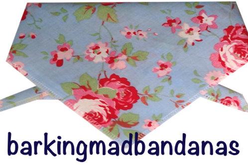 Dog Bandana -Cath Kidson Style Blue
