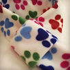 Paw Print Scarves, Dog Scarves, Fleece, Dog Clothing, Dogs Birthday Gifts, Dog Accessories, Hnadamde Uk Dog Clothing, Designer Dog Clothing