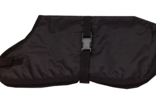 Waterproof dog coats, black dog coats, made to measure dog coats UK Dog Clothes