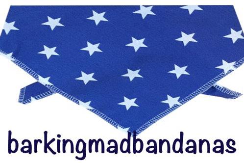 Royal Blue Stars, Star design, Dog Scarves, Dog Bandanas, Star design
