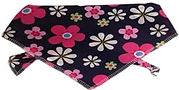 Puppy dog bandanas, floral bandanas, girl bandanas, dog clothing
