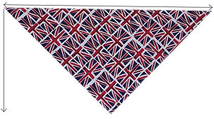 Dog Bandana, tie style, luxury, dog groomer bandanas, UK