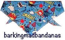 Dog Clothing, Cartoon, Superhero Dog Bandana, Birthday Gift, Dog Accessories & Dog Clothing UK