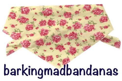 Retro Dog Bandanas, Dog Neck Ties, Vintage, Floral Bandanas