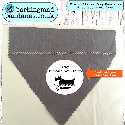 Dog Slider Bandanas, Plain Sliders, Dog Bandanas, Promoting, Advertising, Handmade, UK
