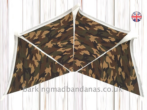Army, Camouflage, Tenting, Camping, Bunting, Handmade, UK