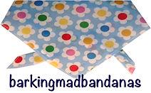 Dog Bandana Blue, Floral Bandana, Neck Tie, UK