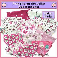 Pink Slider Bandanas, Pink Bandanas, Bulk Bandanas for Dog Groomers, Dog Grooming Bandanas UK, Bulk Bandanas, Dog Grooming Supplies UK, dog Grooming Suppliers UK, Cheap