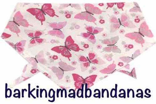 Dog Bandana - Pink Butterfly