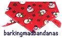 Christmas Dog Bandanas, Christmas Bandanas, Dog Scarves, Handmade Dog Clothing UK