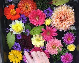 Flower art with a senior