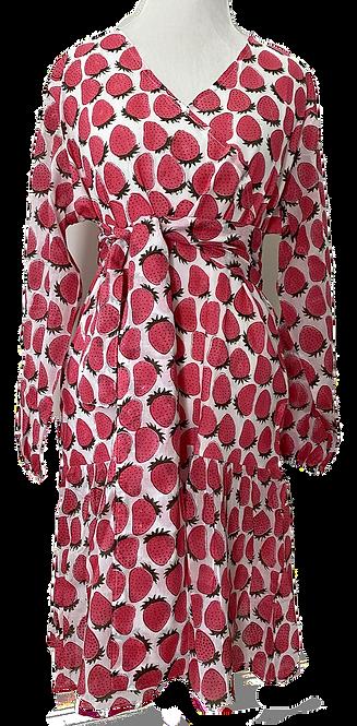 Les Tropéziennes MINI swing dress en berry nice to meet you