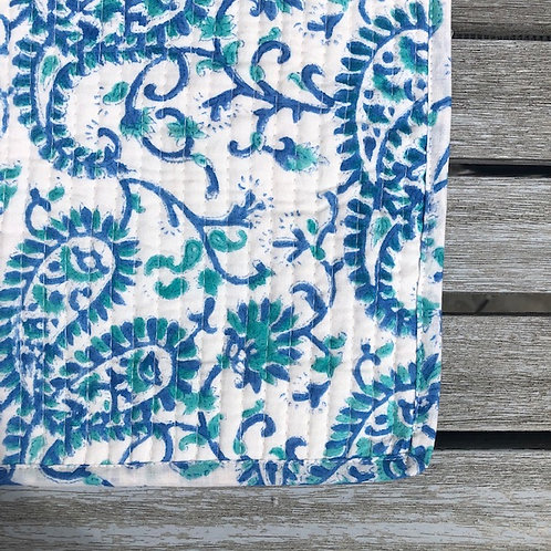 placemat bundle - blue paisley swirl