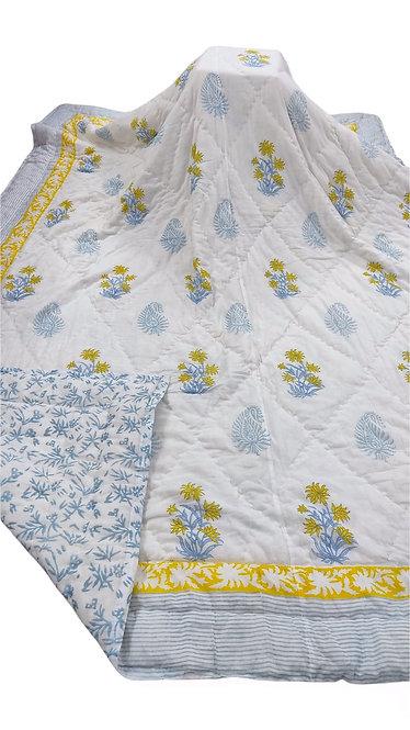 Cozy Up Reversible Quilt - Bleu et Citron