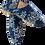 Thumbnail: babouches - blue floral & blue trim