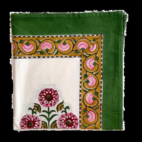 pink dahlia linen collection
