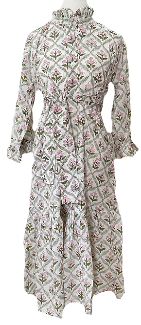 sassaroo shirt DRESS in garden trellis