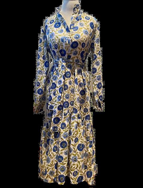 sassaroo shirt DRESS in blue alpine floral