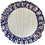 Thumbnail: Flounce Placemat & Napkin Set en Bleu et Rouge