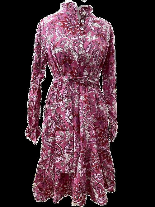 MINI sassaroo shirt DRESS en bougainvillea positano