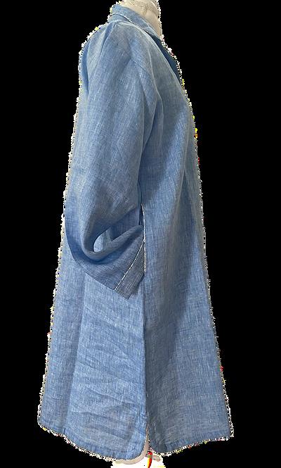 Katharine Linen Night Shirt No. 2 (blue)