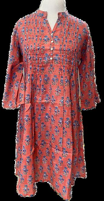 Pauline Pintuck Tunic Dress en Summer Punch