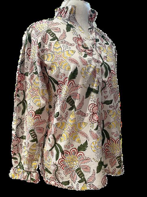caroline shirt en floral blooms