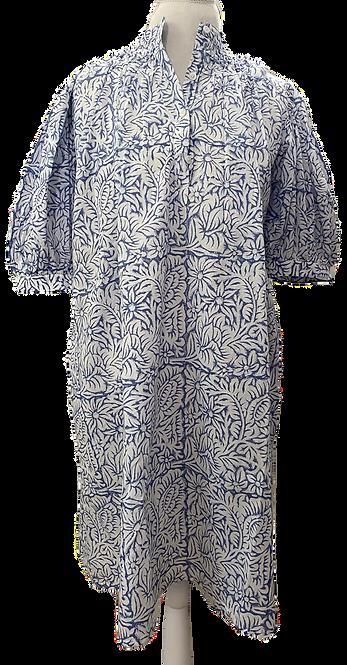 Eloise Dress en French Blue Floral