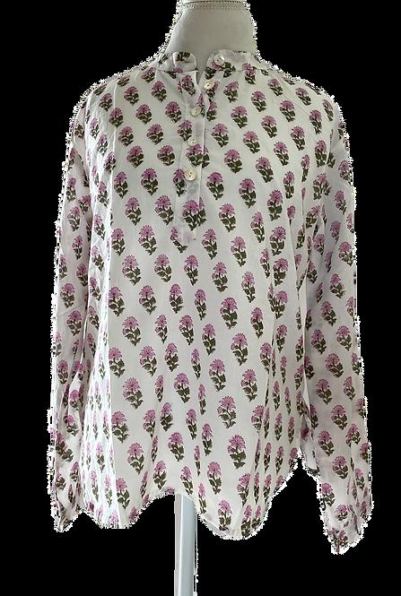 Facile Shirt, Pink Dahlias