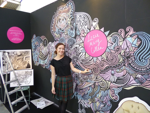 Tent London exhibition mural