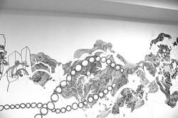 HARVEYNICHOLS-WALL-MURAL-PEN-AND-INK3