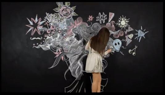 Ciate chalkboard mural