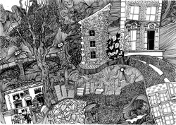 Peckham, pen and ink
