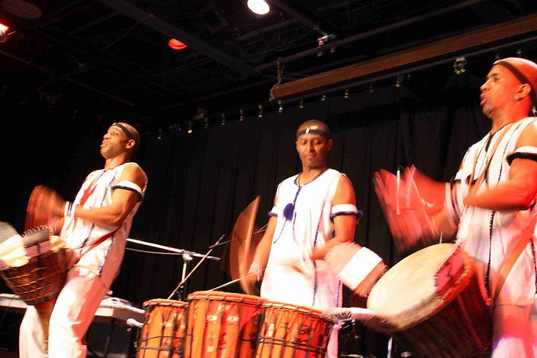 Live drumming performance