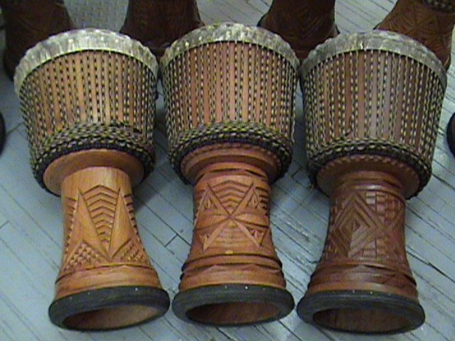 Authentic African musical instruments