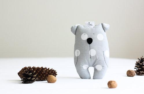 """Medvěd mini """"CUTEGUY"""" šedý s puntíkem"""