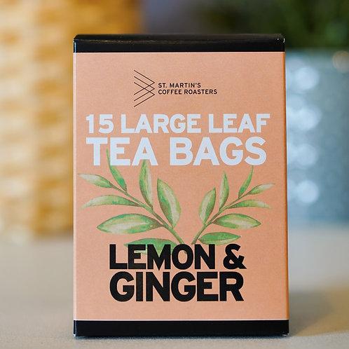 Lemon & Ginger Large Leaf Tea Bags