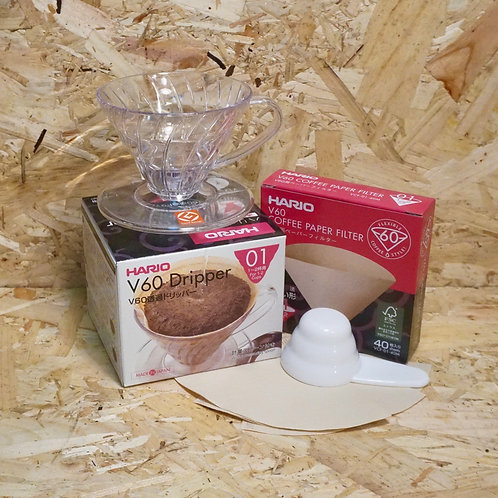 Hario V60 1 Cup Filter Dripper + 40 Paper Filters