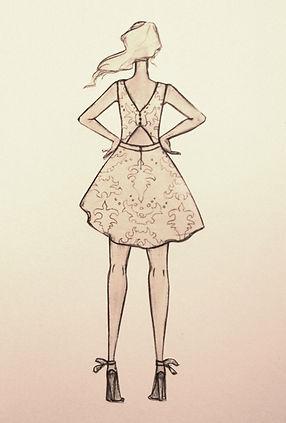 Marine M-Robe de mariée-dos nu-soie-dentelle
