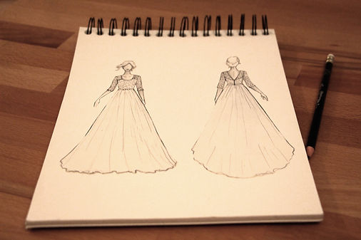 Croquis robe de mariée - Marine M