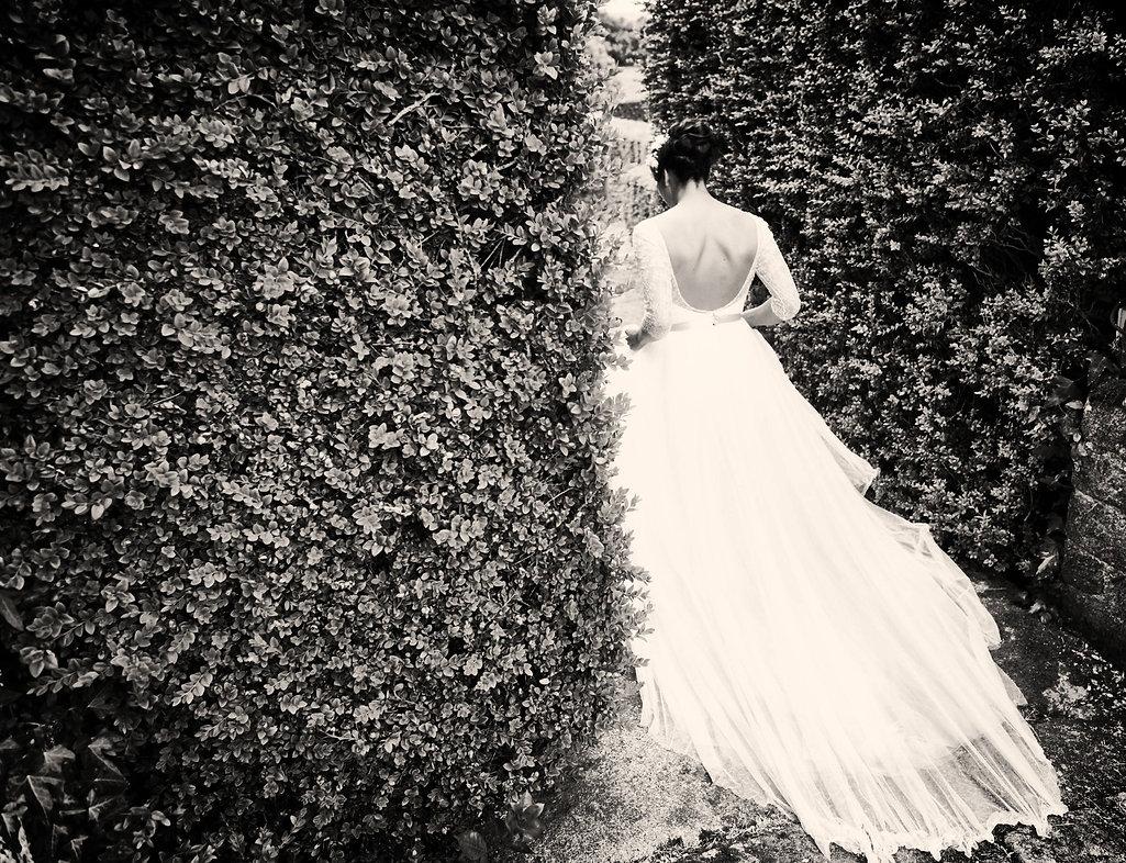 Robe de mariée-dos nu-Marine M-dentelle-tulle-mariage